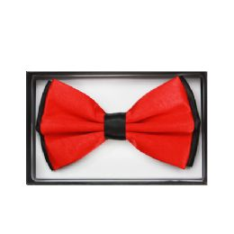 48 Bulk Black And Red Bow Tie 030