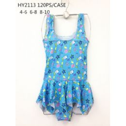 120 Bulk Girls 1pc Swim Set