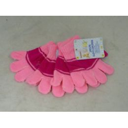 144 Bulk Gloves Childen 2/pk 6asst