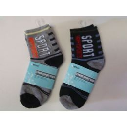 288 Bulk Sock Boy 2pk/set 4asst Color
