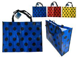 144 Bulk Polka Dot Design Shopping Bag