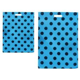 "300 Bulk Sh0pping Bag Polka Dot 14x20""blue Clr"