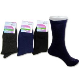 288 Bulk Sock Dress 2 Pairs 3asst Clrblack,navy,grey Clr