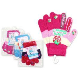 288 Bulk Gloves 1pair Children 'sw/noN-Slip Rubber