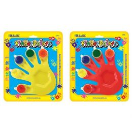 80 Bulk 5 Colors 5ml Finger Paint W/ Hand Shaped Mixing Tray