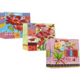 144 Bulk Gift Bag Floral Design