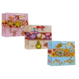 144 Bulk Every Day Gift Bags Floral Design