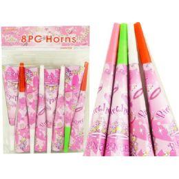 144 Bulk Blowhorns 8pc Princess Design