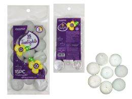 96 Bulk Candle 15 Piece In Bag White Unscented