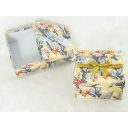 "48 Bulk Paper Box Sq 6.3""x6.3""x3.35""flower Design"