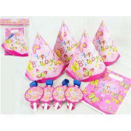 144 Bulk Party Set 12pc Butterfly Desig