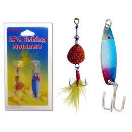 96 Bulk Fishing Spinners 2pc /set 19117 3pc