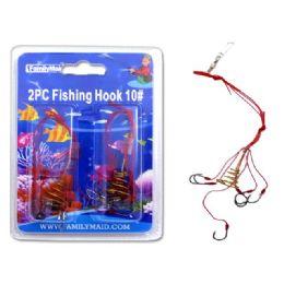 144 Bulk Fishing Hook 2pc 10#