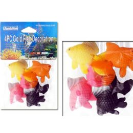144 Bulk Goldfish Decoration 4pc