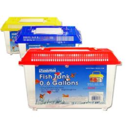 48 Bulk Fish Tank 21.5x14x15cm Asst Cl Old No 10956