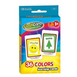 48 Bulk Bazic Colors Preschool Flash Cards (36/pack)