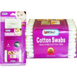 72 Bulk Cotton Swab 450 Count Estella