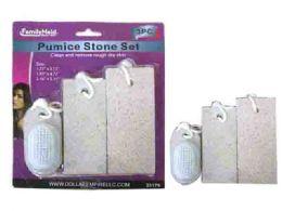 72 Bulk 3 Piece Pumice Stone With Scrub