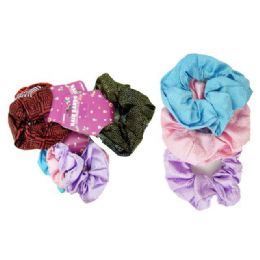 288 Bulk 3 Piece Assorted Printed Scrunchies