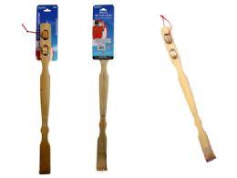 72 Bulk 2 Piece Bamboo Backscratcher & Massager