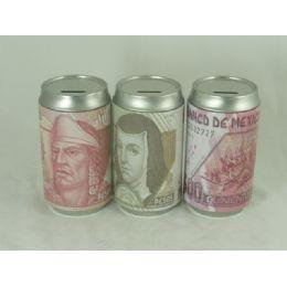 48 Bulk Saving Bank Tin Mexican Money Assorted