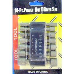 48 Bulk 14pc Power Nut Driver Set