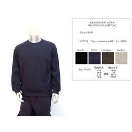 12 Bulk Mens Sweat Shirt 90% Poly Cotton 10% Cotton Assorted