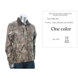 12 Bulk Mens Polar Fleece Camouflage Sweat Shirt 90% Poly 10% Cotton