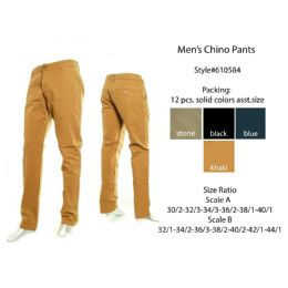 12 Bulk Mens Chino Pants