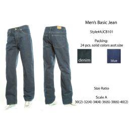 12 Bulk Mens Basic Jeans