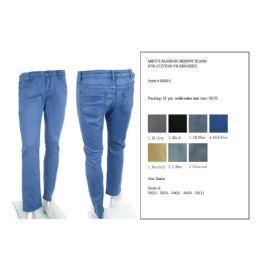 12 Bulk Mens Fashion Skinny Jeans 97% Cotton 3% Spandex