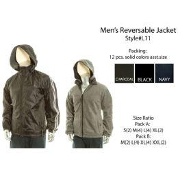 12 Bulk Mens Reversible Jacket