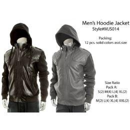 12 Bulk Mens Fashion Hoodie Jacket