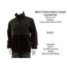 12 Bulk Mens Fleece Nylon Jacket