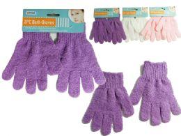 144 Bulk Bath Gloves 2 Pieces