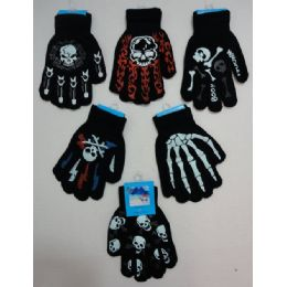 36 Bulk Boys Printed Gloves