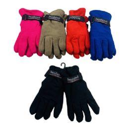 36 Bulk Kids Fleece Gloves