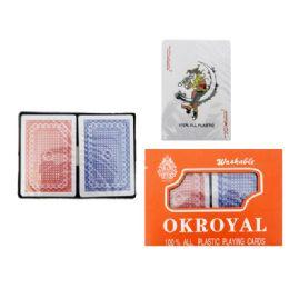 96 Bulk Playing Card 2set Plastic