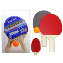 72 Bulk 3 Piece Ping Pong Set