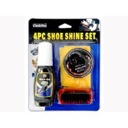 72 Bulk 4 Piece Shoe Polish Set
