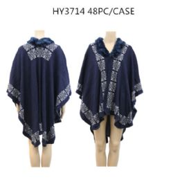 24 Bulk Ladies Fashion Winter Poncho