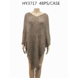 24 Bulk Ladies Fashion Poncho