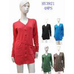 24 Bulk Ladies Fashion Long Sweater Dress