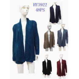 20 Bulk Ladies Solid Shawl Cardigan