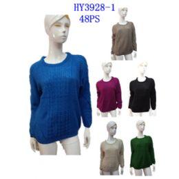 24 Bulk Ladies Winter Fashion Sweater