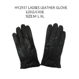 72 Bulk Ladies Leather Winter Gloves