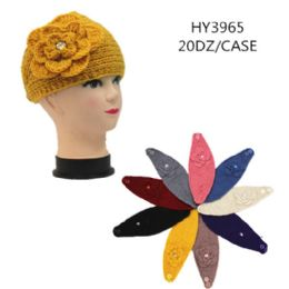 60 Bulk Ladies Fashion Winter Head Band With Flower