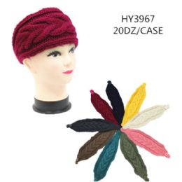60 Bulk Ladies Fashion Winter Head Band Solid Colors