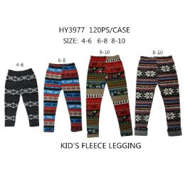 60 Bulk Girls Fashion Tribal Fleece Leggings