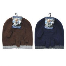 36 Bulk Winter Set Hat & Glove Men